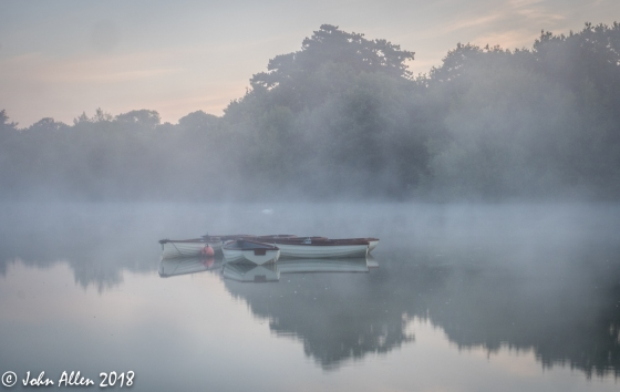 BOATS IN THE MIST by John Allen