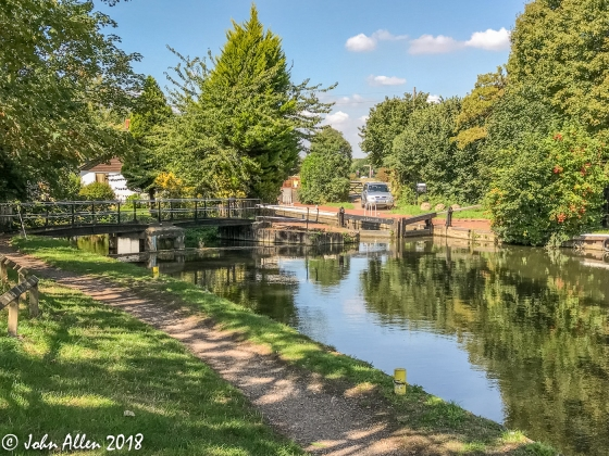 HARLOW LOCK, RIVER SORT by John Allen