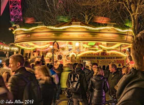 xmas fairground by john allen